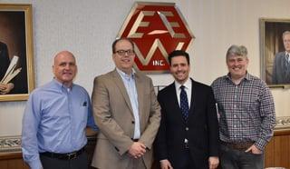 Hanover Area Chamber of Commerce President, Gary Laird, Elsner CEO Bert Elsner II, Rep. Jim Christiana and Elsner's Gordon Laabs
