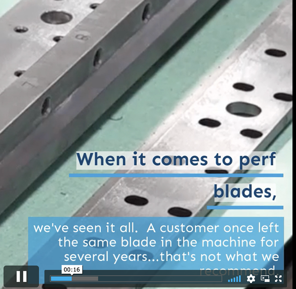 ELSNER Tech Talk Video:  Perf Blades